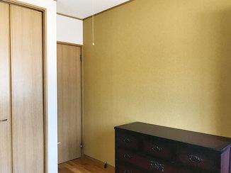 内装リフォーム 洋室とトイレのイメージをおしゃれに変えた壁紙