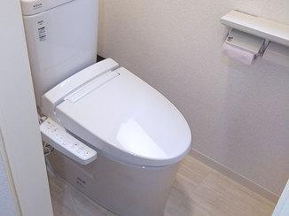 トイレリフォーム 段差を軽減し使いやすくなったトイレ